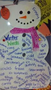 snowman vocabulary